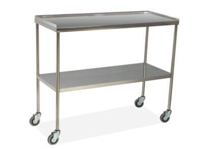 Mesas auxiliares de acero cromado